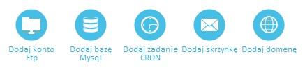 ikony panelu hostingowego