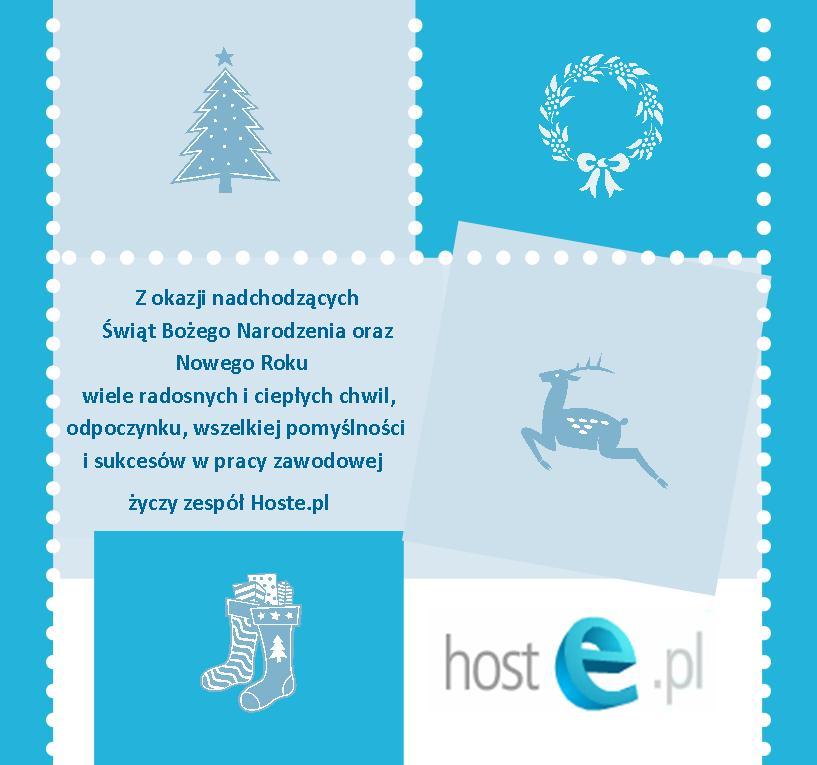Życzenie świąteczne od Hoste.pl
